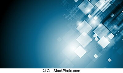 Abstract blue tech geometric video animation