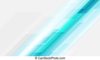 Abstract blue tech video animation