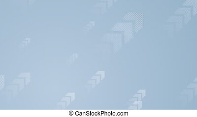 Abstract blue tech video animation with arrows