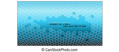 Abstract blue technical background