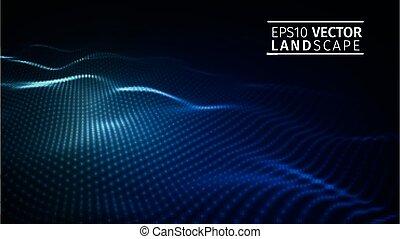 Abstract blue technology background . Vector illustration EPS10. Modern network technology illustration.