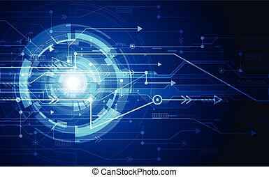 Abstract blue technology concept. vector background illustration
