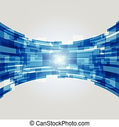 Abstract blue technology new future concept background