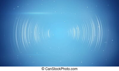 abstract blue technology seamless loop background