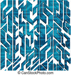 abstract blue technology seamless pattern