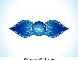 abstract blue third eye chakra.eps