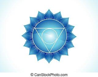 abstract blue throat chakra.eps - detailed throat chakra...