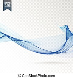 abstract blue transparent wave vector background