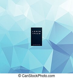 abstract blue triangle background vector design