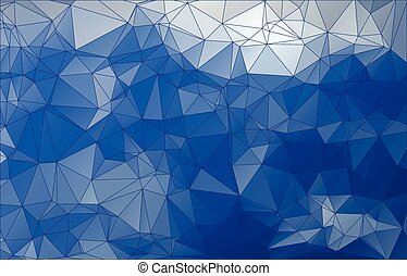 abstract blue triangle low poly design background