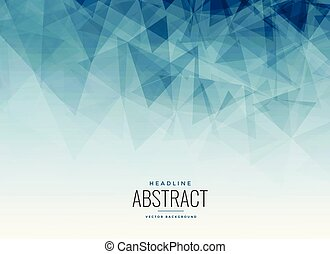 abstract blue triangles fractal background