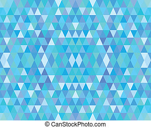 Abstract Blue Triangles Mosaic
