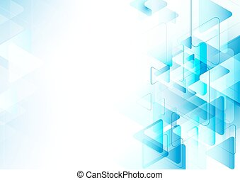 Abstract blue triangles repeating with space for your text background