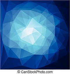 abstract blue triangular pattern