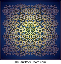 Abstract blue vector baroque background