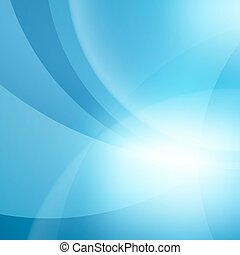 Abstract Blue Vector Waves Background. Vector Illustration