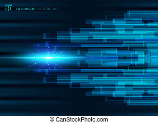 Abstract blue virtual technology concept futuristic digital background with space for your text.