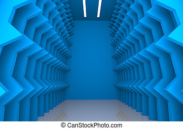 abstract blue wall