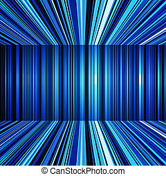 Abstract blue warped stripes background