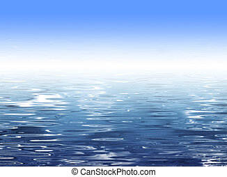 Abstract blue water background - Beach illustration with...