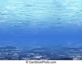 Abstract blue water background - Clean fresh underwater...