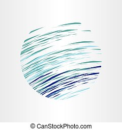 abstract blue water circle background vector design element