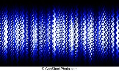 abstract blue water wave & particle