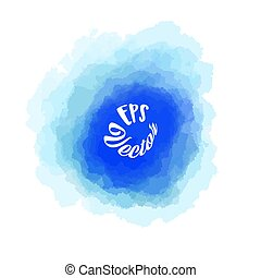 Abstract Blue watercolor Background Stroke