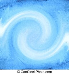 Abstract blue watercolor background with waves