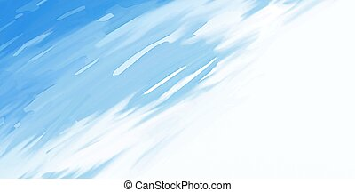 Abstract blue watercolor brush stroke on white background vector illustration
