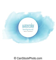 abstract blue watercolor texture vector background