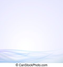Abstract blue wave background, light vector design
