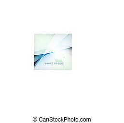 Abstract blue wave blur vector background