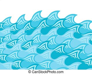 Abstract blue wave design with plase for text
