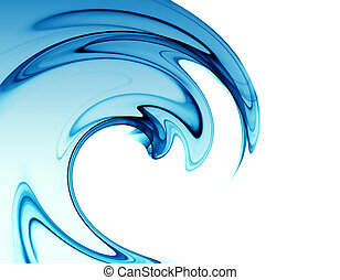 abstract blue wave on white background