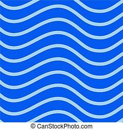 Abstract Blue Wave Pattern