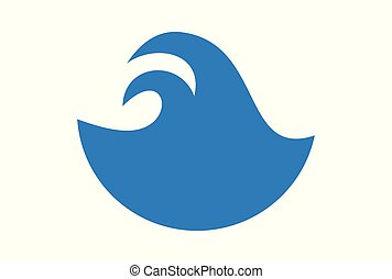 abstract blue waves logo icon