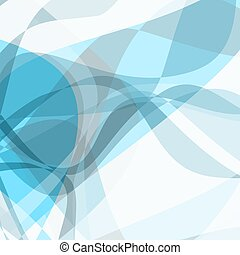 Abstract blue waves - Vector illustration of waves...