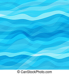 Abstract Blue Wavy Background