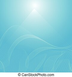 abstract blue wavy background, abstract light vector...