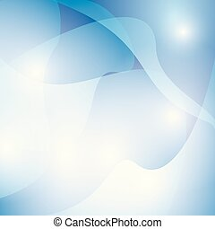 abstract blue wavy background with lights - vector