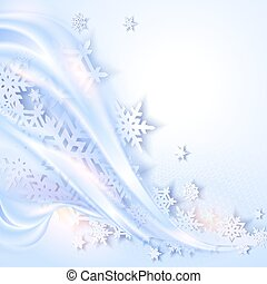 Abstract blue winter background