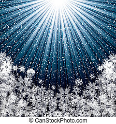 Abstract blue winter Christmas background