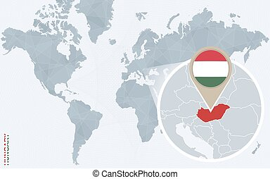 Abstract hungary map on a white background vector illustration