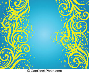 Abstract blue-yellow background
