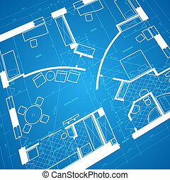 Abstract blueprint background