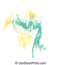 Abstract blue,yellow watercolor background for your design insul