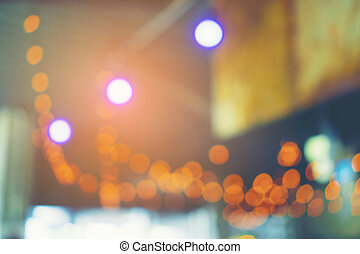 Abstract blur and defocus restaurant cafe interior for background