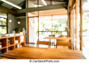 abstract blur and defocused cafe restaurant