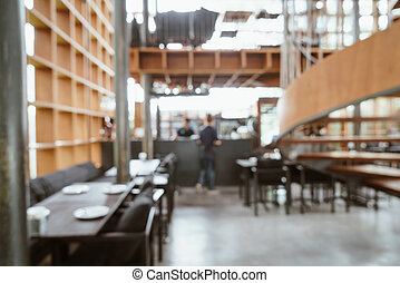 abstract blur and defocused in cafe and restaurant for background